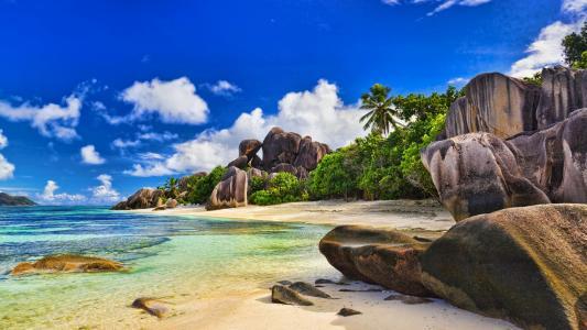 岛,石头,水