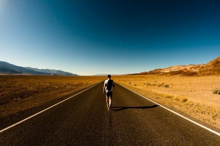 沙漠,路,家伙