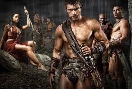 斯巴达克斯,系列,斯巴达克,沙子和血,角斗士