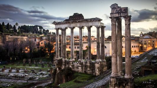 罗马,论坛,罗马,论坛,废墟,意大利