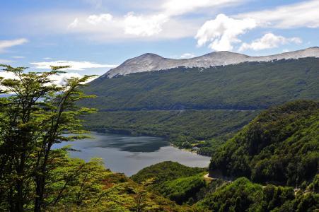 湖,阿根廷,法加诺湖,云,山