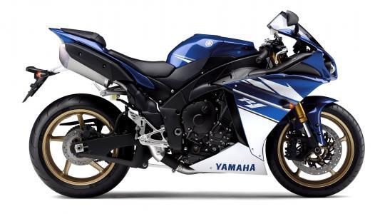 雅马哈,摩托车蓝,雅马哈R1