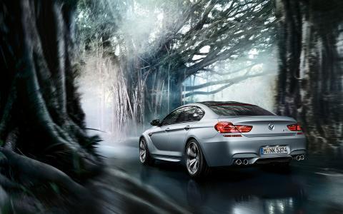 mpower,gran coupe,宝马,轿跑车,调音,道路,运动,m6,树木