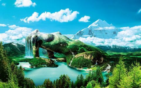 绿色,世界,壁纸