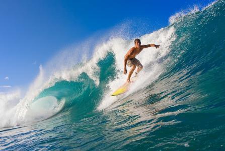 冲浪,波浪,海洋,冲浪者