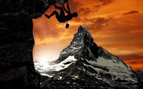 登山,壁纸