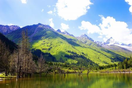 风光秀丽的山水美景