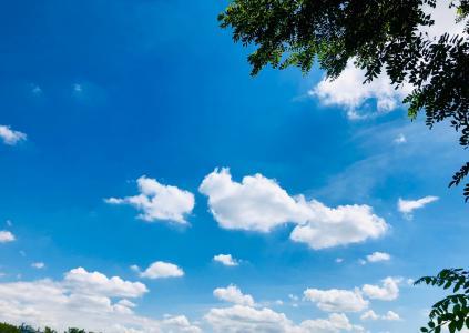 优美的蓝天与白云景色