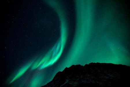 北极光,夜晚,星空,现象