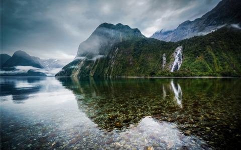 新西兰,湖,景观,壁纸