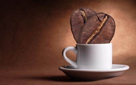 咖啡豆,杯子,背景
