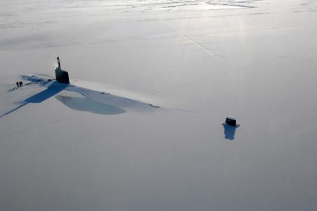 潜艇,冰,海洋