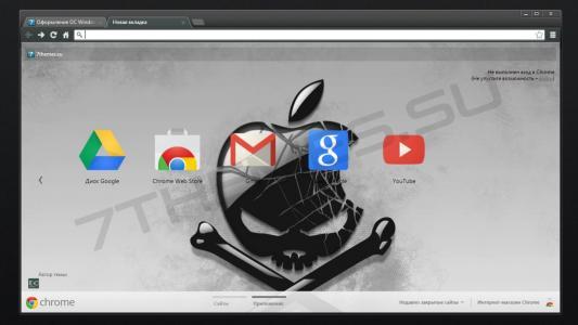 主题,为谷歌,铬,苹果,海盗